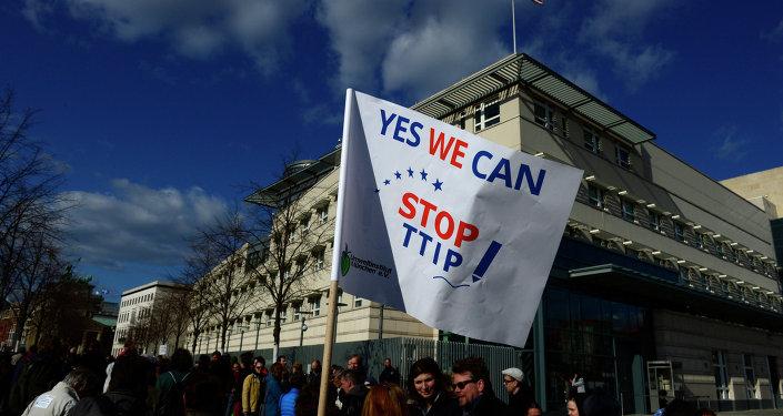 Manifestaciones de protesta contra el tratado TTIP (Archivo)