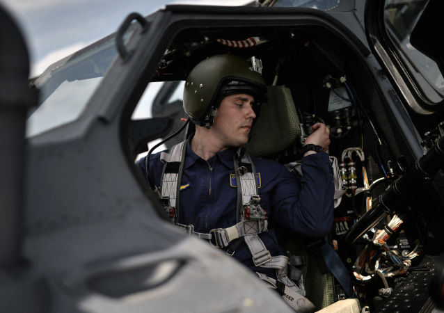 Piloto en helicóptero Mi-28