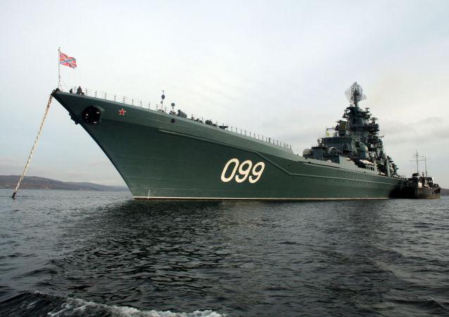 Crucero pesado Piotr Veliki de la Flota rusa del Norte