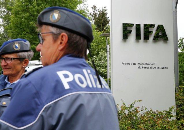 Policía de Zúrich en Congreso de la FIFA