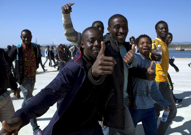 Migrantes en Sicília, Italia (archivo)