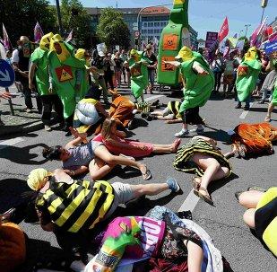 Protesta en Múnich contra la cumbre del G7