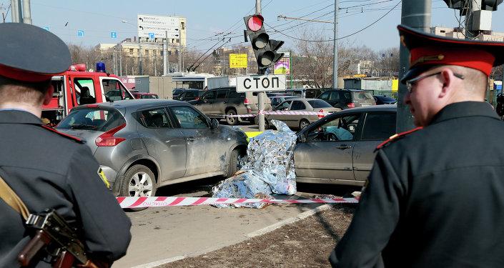 Un accidente de tráfico en Moscú (Archivo)