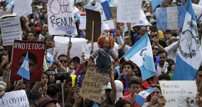 Marcha anticorrupción en Guatemala