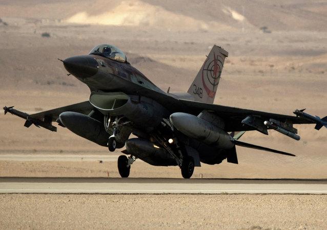 Caza F-16 de la Fuerzas Aéreas de Israel