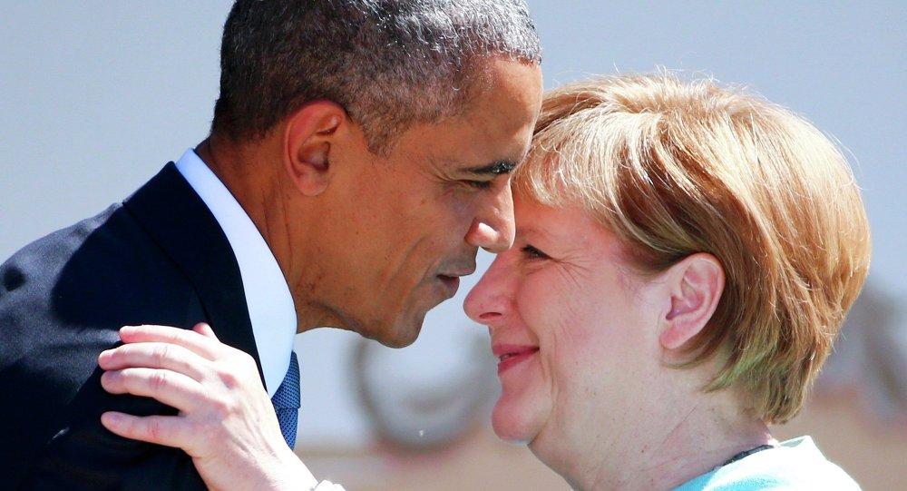Presidente de EEUU, Barack Obama y canciller de Alemania, Angela Merkel (archivo)