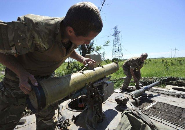 Miembros de las fuerzas armadas de Ucrania (archivo)