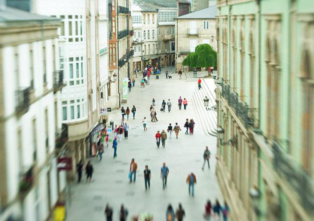 Una calle en Lugo (Galicia)