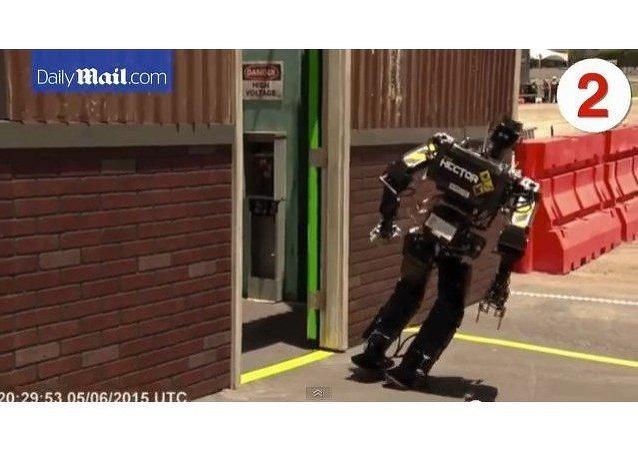 Robots tropiezan y caen