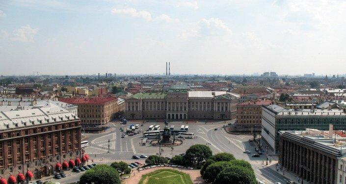 Plaza de San Isaac en San Petersburgo