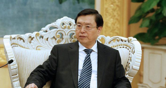 Presidente del Comité Permanente de la Asamblea Popular Nacional (APN) de China, Zhang Dejiang