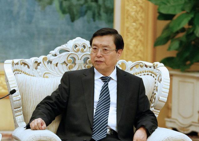 Zhang Dejiang, presidente del Comité Permanente de la Asamblea Popular Nacional de China