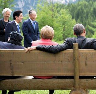 Líderes de los países participantes de la cumbre del G7 en Baviera