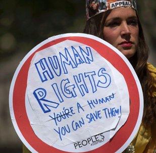 Una manifestación a favor de la Ley de Derechos Humanos en Londres (archivo)