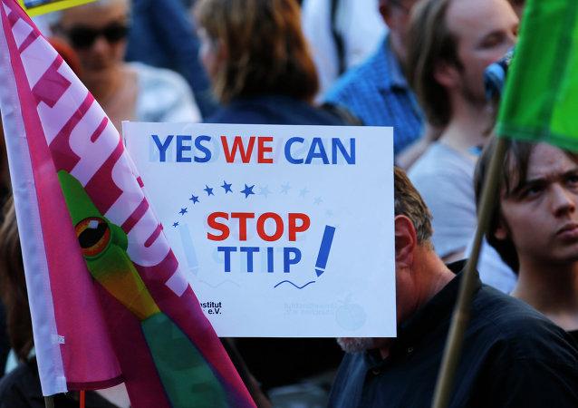 Manifestación contra TTIP en Alemania