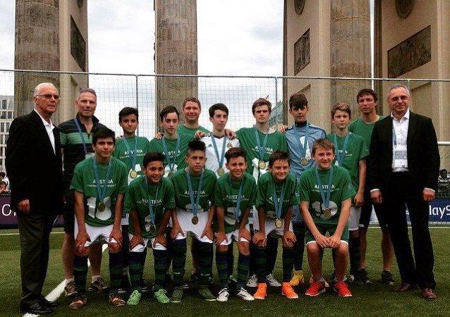 Ganadores del Tercer Foro Internacional para los Niños Fútbol para la amistad, FC Rapid (Austria)