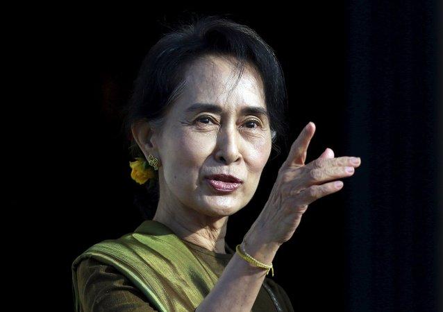 Aung San Suu Kyi, líder de la oposición en Myanmar