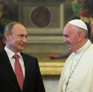 Presidente de Rusia, Vladímir Putin y papa Francisco