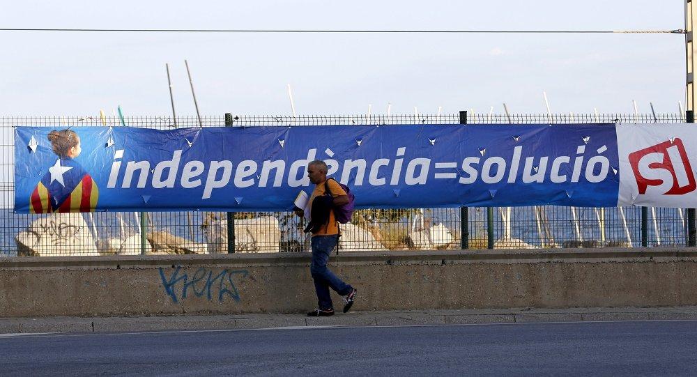 Cartel electoral en Cabrera de Mar, cerca de Barcelona