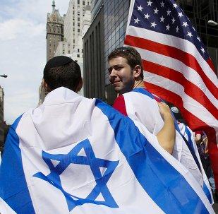 Banderas de Israel y de EEUU