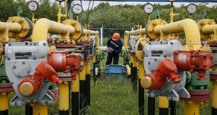 Tubería de gas en Ucrania