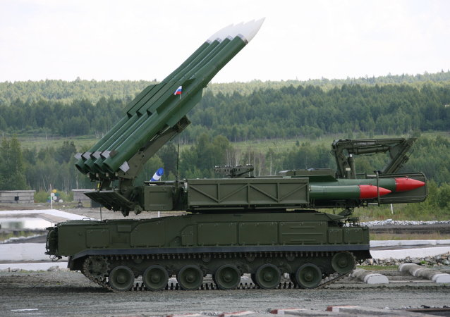 Sistema de misiles antiaéreos Buk-M2E (archivo)