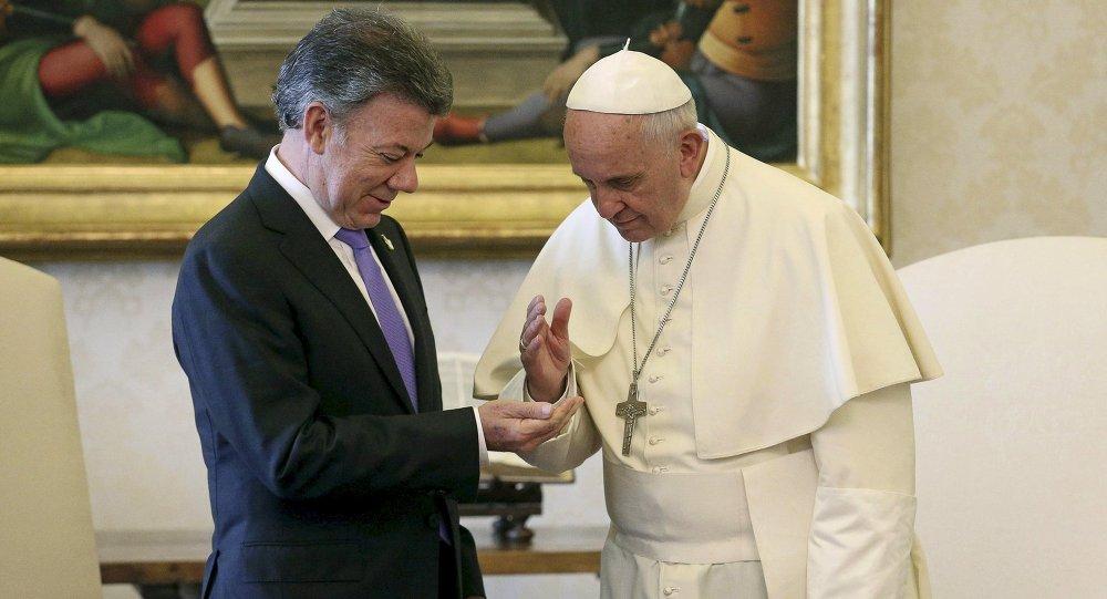 Juan Manuel Santos, presidente de Colombia y Papa Francisco