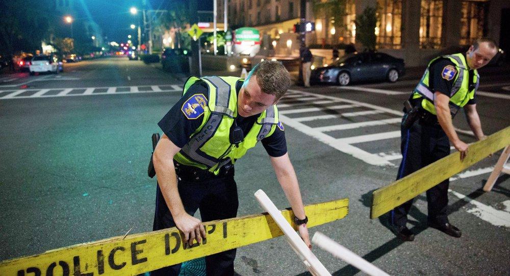 Policías en el lugar del tiroteo (archivo)
