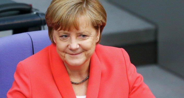 Angela Merkel, canciller de Alemania, en Bundestag, el 18 de junio, 2015