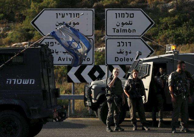 Policía de fronteras israelí