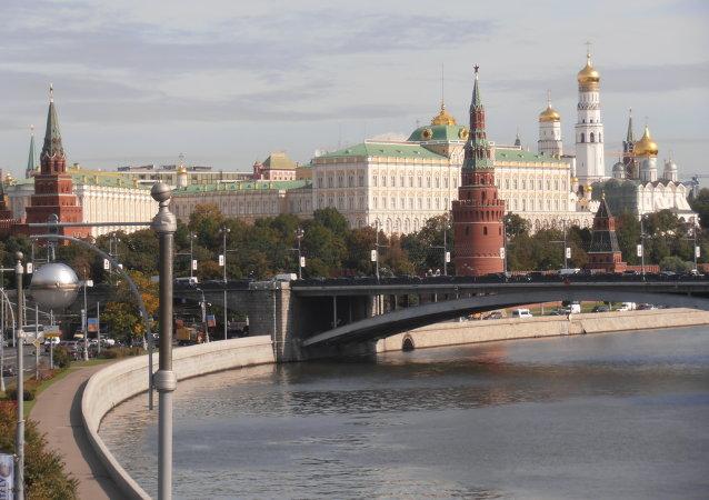 Kremlin y Río Moscova, Moscú, Rusia
