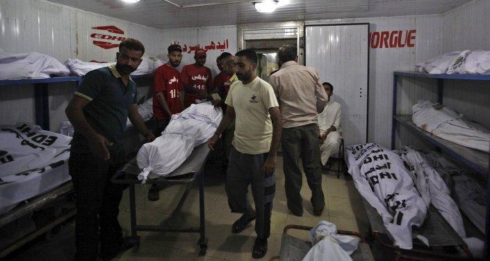 64 personas murieron a raíz de una ola de calor en Pakistán, el 21 de junio, 2015