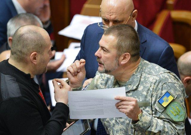 Yuri Bereza, miembro del partido ucraniano Frente Popular