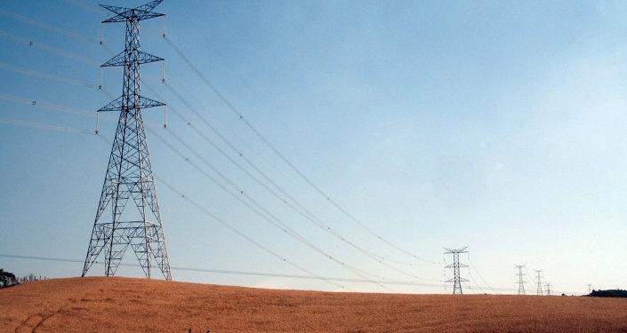 Вышки электропередачи в Бразилии