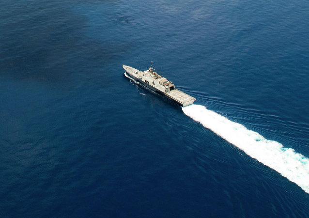 USS Fort Worth en el mar de China Meridional