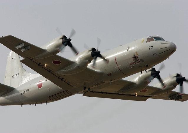 Avión patrulla P3C de la Fuerza Marítima de Autodefensa de Japón