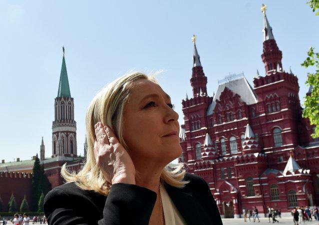 Marine le Pen en Moscú