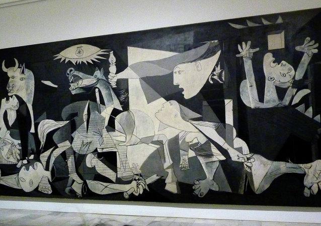 La pintura de Pablo Picasso 'Guernica' en el museo de la Reina Sofia en Madrid