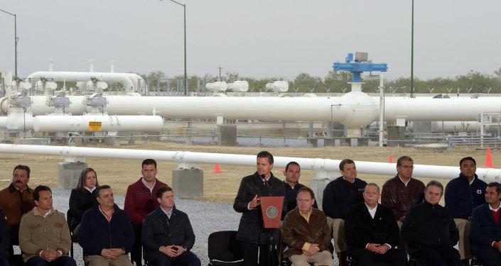 Presidente Peña inaugura gasoducto que conecta a México con Texas, EEUU