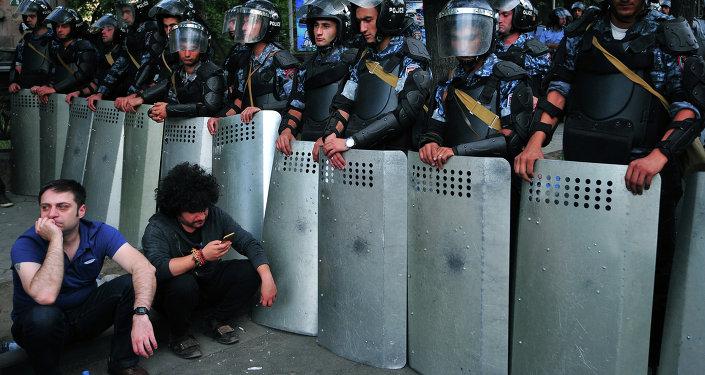 Protesta en Armenia