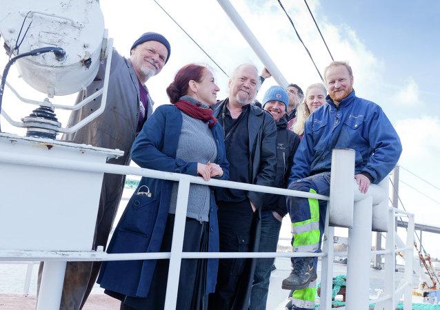 Activistas de la tercera Flotilla de la Libertad