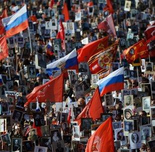 El 'Regimiento Inmortal' recibe el principal premio de televisión ruso