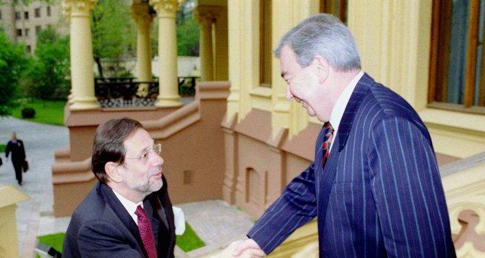 Javier Solana y Evgueni Primakov