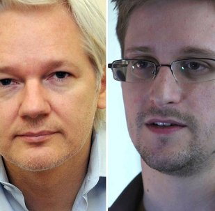 Fundador de Wikileaks, Julian Assange, y exanalista de la CIA, Edward Snowden