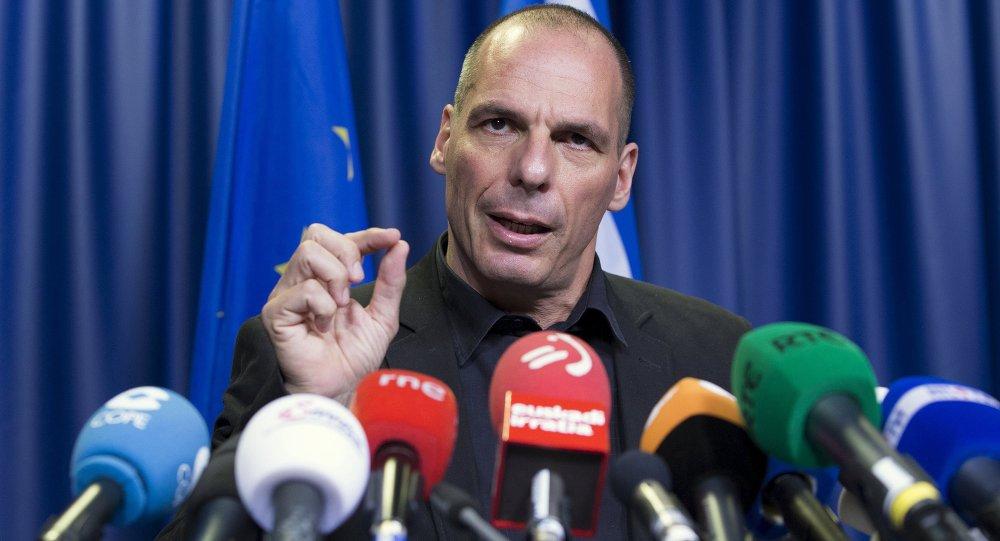 Yanis Varoufakis, ministro de finanzas de Grecia, en Bruselas, Bélgica, el 27 de junio, 2015