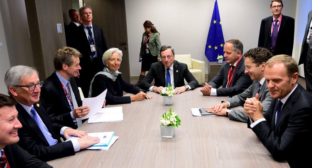 Representantes del Eurogrupo en Bruselas, Bélgica, el 22 de junio, 2015