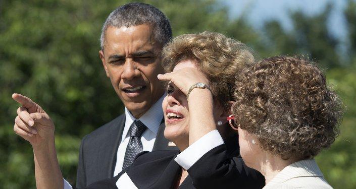 El presidente de EEUU, Barack Obama, y la presidenta de Brasil, Dilma Rousseff