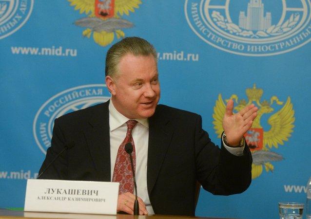 Alexandr Lukashévich, actual portavoz de Exteriores de Rusia