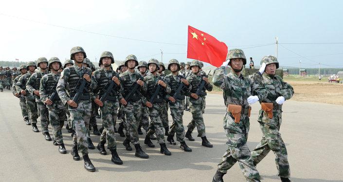 Militares chinos durante maniobras con Rusia (archivo)