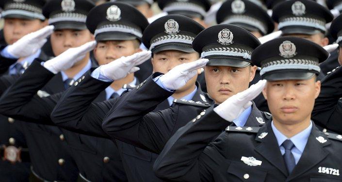 Policía de China en Chenzhou (archivo)